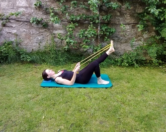 Hip control with resistance bands